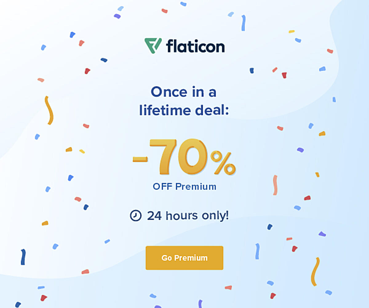 Once in a lifetime deal: 70% OFF Premium 24 hours only!