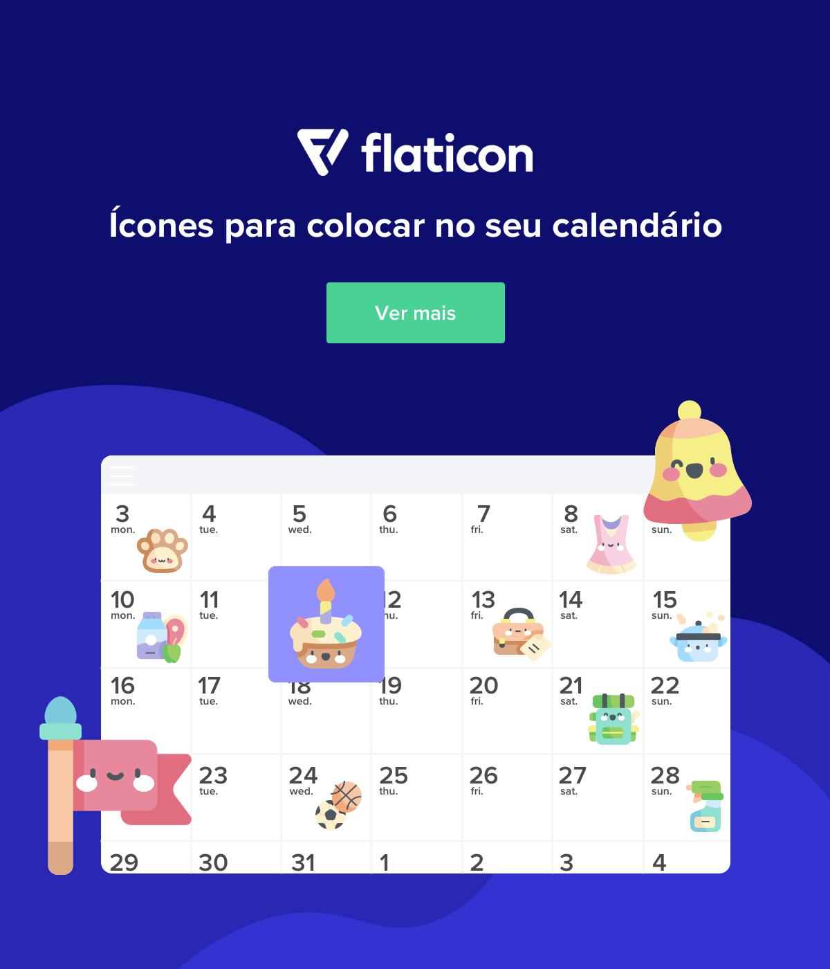 Ícones para colocar no seu calendário